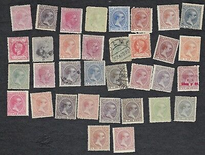 Puerto Rico - Packet of about 30+ postage stamps, all 1800's -  no dups -  B8438