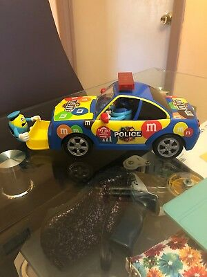 2010 Mars Inc M&M's Police Muscle Car Candy Dispenser Lights & Sounds
