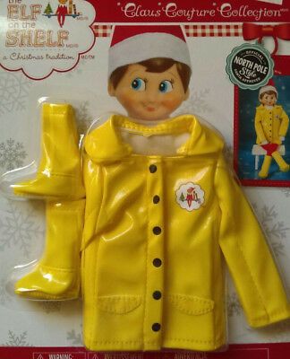 Elf on the Shelf Caroling in the Raincoat with boots -  New in Package