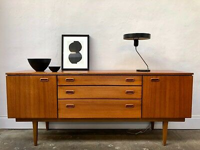 Vintage 19660s Nathan Teak Sideboard. Circles Danish Retro G Plan. DELIVERY