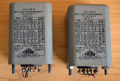 (2) TRIAD HS-56V Matching  Input Transformer EX COND UREI PULTEC TESTED