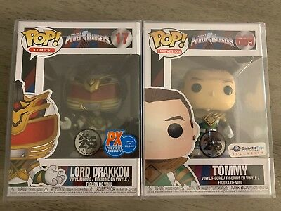 Funko Pop! Power Rangers Tommy & Lord Drakkon Galactic Toys PX Previews Set