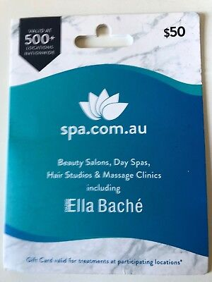 $50 spa.com.au Gift Card Expires Oct 2021 Free Postage