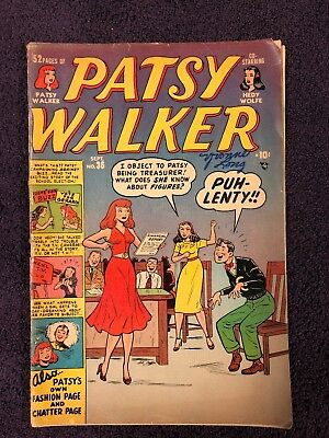 Patsy Walker #36 (1951, Marvel) Spicy ads.