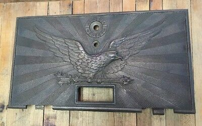 1900's Eagle Brass Post Mail Box Door Vintage Antique Ornate 10 3/4 X 6""
