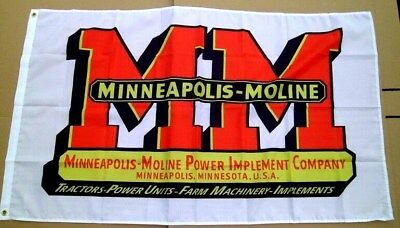 Minneapolis Moline Tractor Flag 3' X 5' Banner Polyster 662
