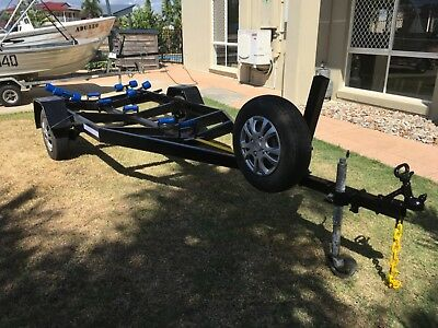 Boat trailer, new rollers, bearings good condition NO RESERVE