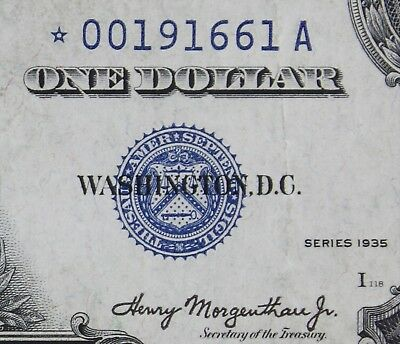 $1 1935 STAR Double Date Silver Certificate M85282615A Plain series, FREE SHIP
