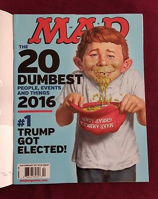 MAD MAGAZINE FEBRUARY 2017 DONALD TRUMP GOT ELECTED 543 w/Mailing Cover