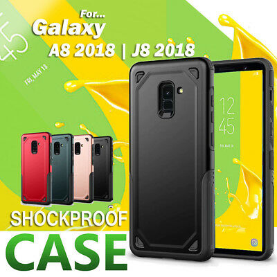 For Samsung Galaxy A8 2018 J5 J7 Pro Heavy Duty Rugged Rubber Case Armor Cover