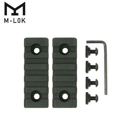 2PCS 5 Slots M-LOK Picatinny/Weaver Rail Section 2.5'' for mlok mlock handguard