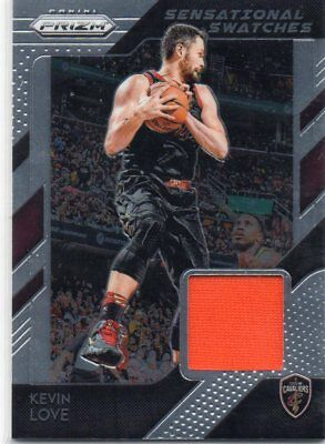 18-19 Panini Prizm Sensational Swatches Jersey Kevin Love Cavaliers