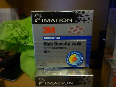 """3M Formatted DS DD Diskettes Box of 10 3.5"""" Floppy IBM Compatible Factory Sealed"""
