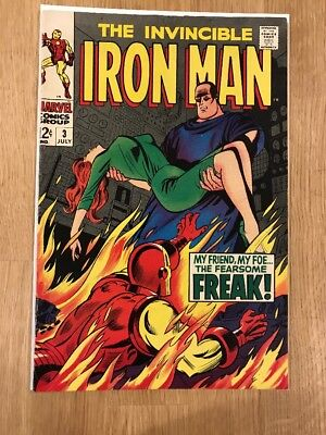 The Invincible Iron Man #3 - Silver Age - Mid To Higher Mid Grade - Lot #81