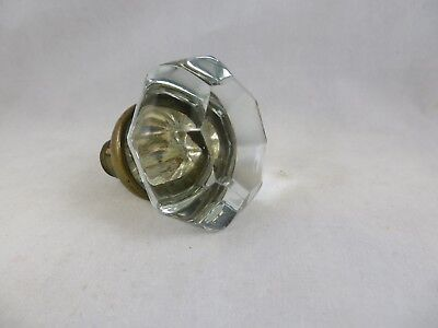 Vintage Glass Door Knob Brass fixture