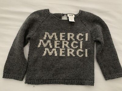 Oeuf Nyc Baby Girl Size 18 Months Merci Knit Sweater