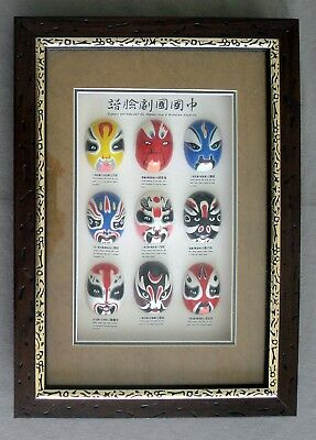 Chinese Opera Miniature Masks - Shadow Box Set
