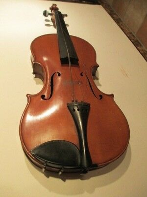 "Antique Pollmanini Violin With Wooden Case- Guarneri Copy -""as Is"""