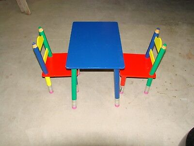 Kids Table and 2 Chairs Set For Toddler - Colorful and Fun