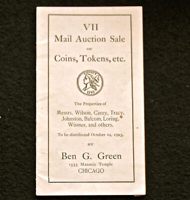 Ben Green's Seventh Mail Auction Sale: Wilson, Carey, Tracey, and Others 1903