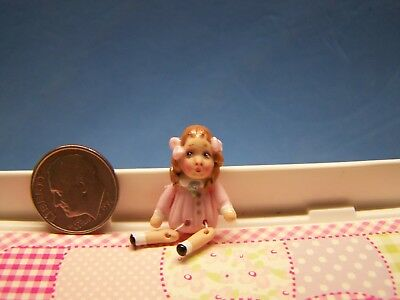 1:12 Scale Dollhouse, Little Girl Doll, About 1 1/4 Inch Tall