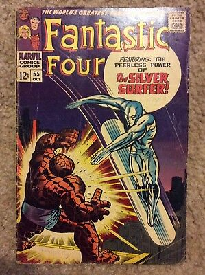 FANTASTIC FOUR #55 By Stan Lee & Jack Kirby 1966 Marvel Comics Silver Surfer