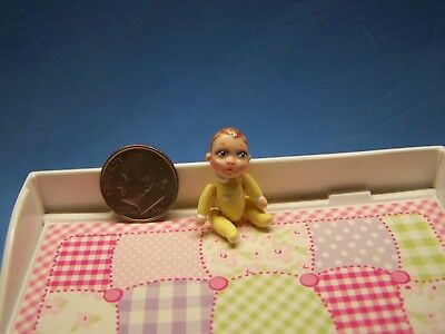 1:12 Scale Dollhouse, Little Baby Doll, About 1 1/8 Inch Tall