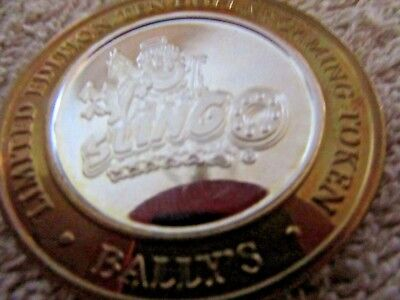 Silver Casino Strike $10 Gaming Token BALLY'S 2003 MINT G