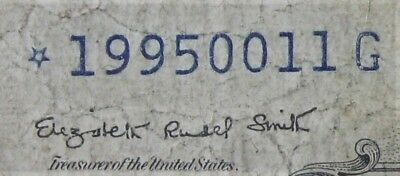 INVERTED STAR ERROR $1 1935G With Motto Silver Certificate *19950011G FREE SHIP.