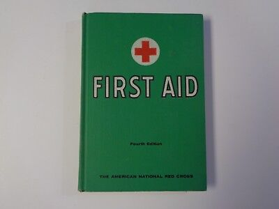 First Aid Textbook 1957 - American Red Cross - Fourth edition vintage hardback