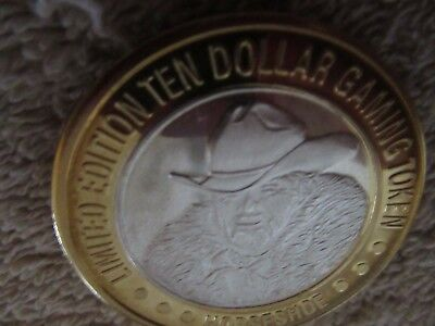BINION'S HORSESHOE Casino Silver Strike  $10 Gaming Token  MINTGDC