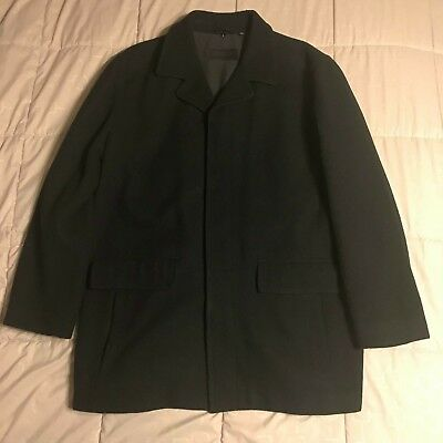 b8e0dbbf56 Inc International Concepts Double-Breasted Pea Coat, Charcoal, Large.