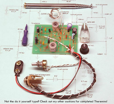 Theremaniacs Kit Theremin SALE PRICE Build Your own Working soldered wired board