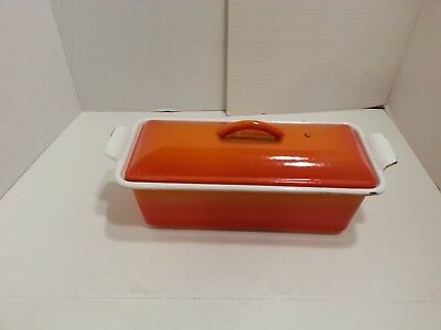 RARE Vintage French Le Creuset #24 Cast Iron Pate Terrine Loaf Pan Dutch Oven