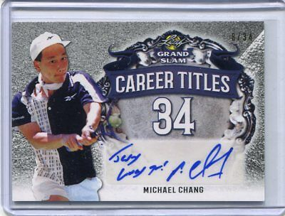 2018 Leaf Signature Series Michael Chang Career Titles Auto Autograph 8/34
