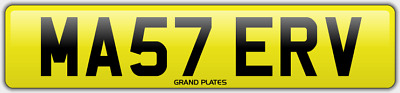 Master number plate MA57 ERV CHERISHED REGISTRATION MASTERS BOSS FEES INCLUDED