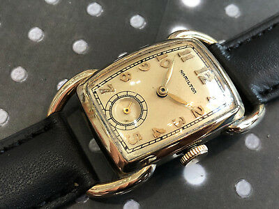 Vintage Hamilton Men's wristwatch Bowman hinged rare great vintage condition run
