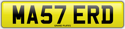 Master number plate MA57 ERD CHERISHED REGISTRATION MASTERS BOSS FEES INCLUDED