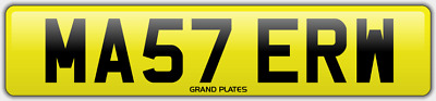 Master number plate MA57 ERW CHERISHED REGISTRATION MASTERS BOSS FEES INCLUDED