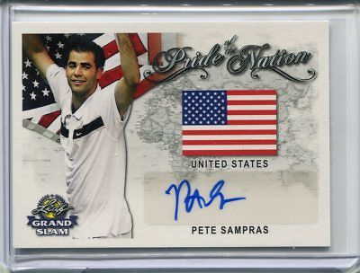2018 Leaf Signature Series Pete Sampras Pride of the Nation Auto Autograph
