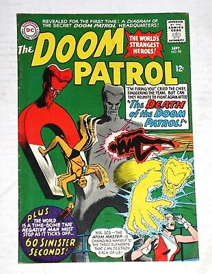The Doom Patrol #98 September 1965 Not Rated