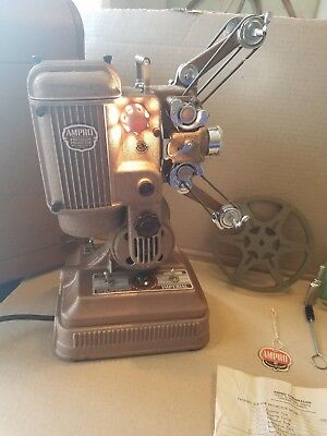 Vtg Ampro Imperial 16 MM Film Movie Silent Precision Projector W/ Case