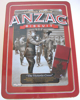 "LIMITED EDITION UNIBIC ANZAC BISCUIT TIN ""THE VICTORIA CROSS""   Collectable"