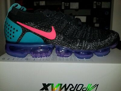 *New* Nike Air VaporMax Flyknit 2 Black/Hot Punch-White Sz 12.5 (942842-003)