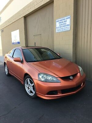 2005 Acura RSX TYPE S TYPE-S BLAZE ORANGE SOUTHERN CALIFORNIA CORROSION FREE LOW MILEAGE NEW TIRES