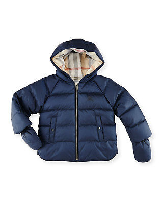 95dab271d NWT NEW Burberry Rilla Update baby boys navy blue hooded puffer jacket coat  6m
