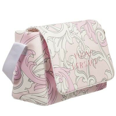 NWT NEW Young Versace Baby girls Pink Baroque Diaper Bag