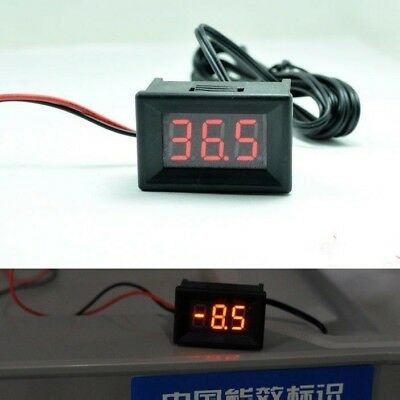 12V 24v LED Digital Temperature Meter -40°C~+ 120°C Thermometer TEMP Sensor