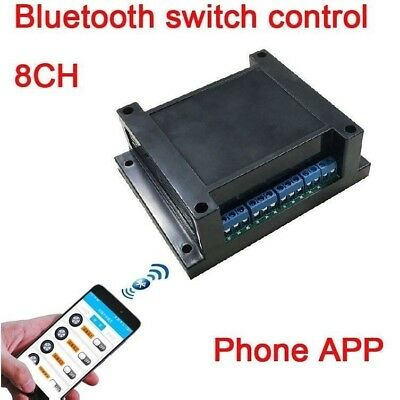 8CH phone APP Bluetooth control relay switch module wireless remote access 12V