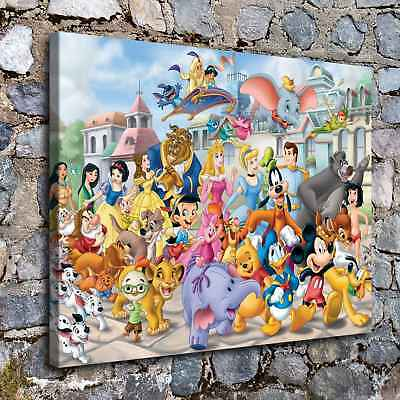 """12""""x16""""Disney HD Canvas prints Painting Home Decor Picture Room Wall art Poster"""